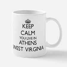 Keep calm you live in Athens West Virgi Mug