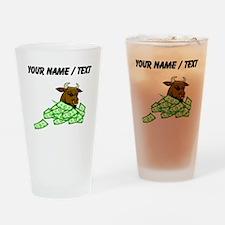 Bull With Money (Custom) Drinking Glass