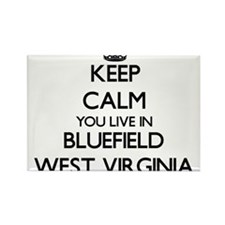 Keep calm you live in Bluefield West Virgi Magnets