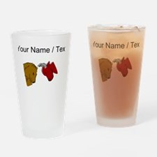 Bull And Bear (Custom) Drinking Glass