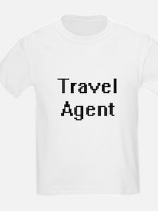 Travel Agent Retro Digital Job Design T-Shirt