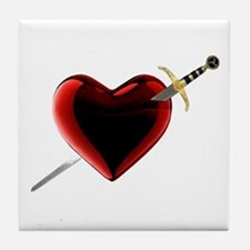 Stabbed In The Heart Tile Coaster