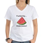Fueled by Watermelon Women's V-Neck T-Shirt