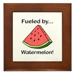 Fueled by Watermelon Framed Tile