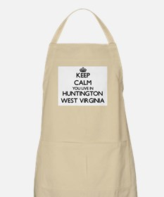 Keep calm you live in Huntington West Virgin Apron