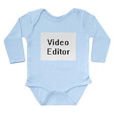 Video Editor Retro Digital Job Design Body Suit