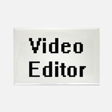 Video Editor Retro Digital Job Design Magnets