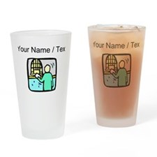 Bank Teller (Custom) Drinking Glass