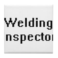 Welding Inspector Retro Digital Job D Tile Coaster