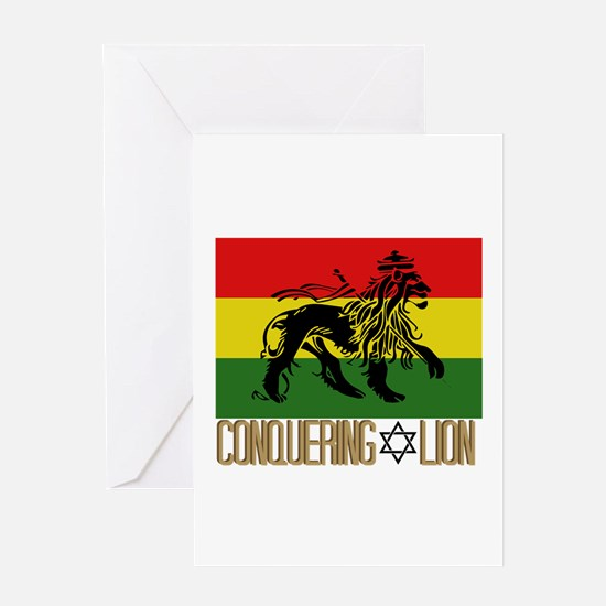 Conquering Lion Greeting Cards