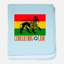 Conquering Lion baby blanket