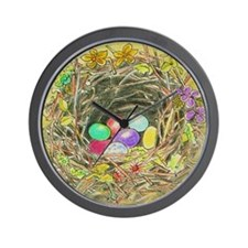 Easter Nest Wall Clock