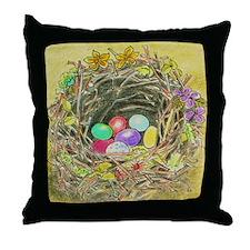 Easter Nest Throw Pillow