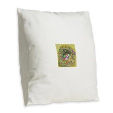 Easter Nest Burlap Throw Pillow