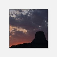 """Towering Sunset Square Sticker 3"""" x 3"""""""