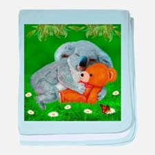 NAPTIME WITH TEDDY BEAR baby blanket