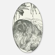 Pekingese, Orchids and Cockatiels Decal