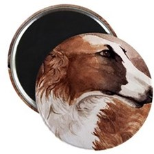 "Cute Borzoi 2.25"" Magnet (10 pack)"