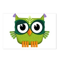 green owl Postcards (Package of 8)