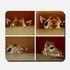 Giraffe Collage Mousepad
