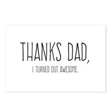 Thanks Dad Postcards (Package of 8)