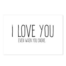 Even When You Snore Postcards (Package of 8)