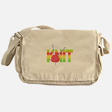 LARGE KNIT Messenger Bag