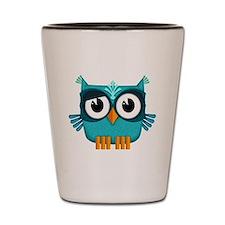 blue owl Shot Glass