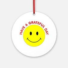 Grateful Day Ornament (Round)