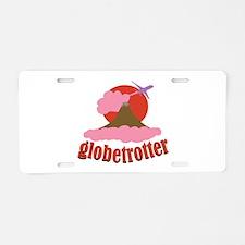 Globetrotter Aluminum License Plate