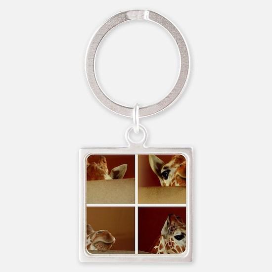 Giraffe Collage Keychains