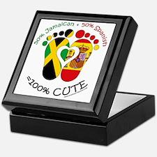 Jamaican Spanish Baby Keepsake Box