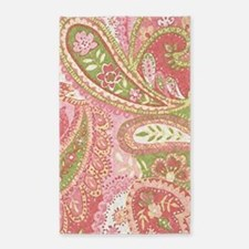 Baby Pink Paisley Watercolor Area Rug