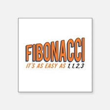 Fibonacci It's as Easy as 1, 1, 2, 3 Sticker