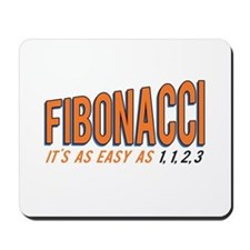 Fibonacci It's as Easy as 1, 1, 2, 3 Mousepad