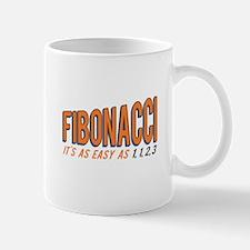 Fibonacci It's as Easy as 1, 1, 2, 3 Mugs