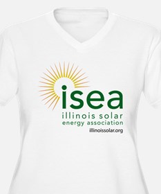 ISEA Logo for white with website Plus Size T-Shirt