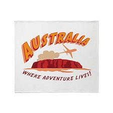Australia Where Adventure Lives! Throw Blanket