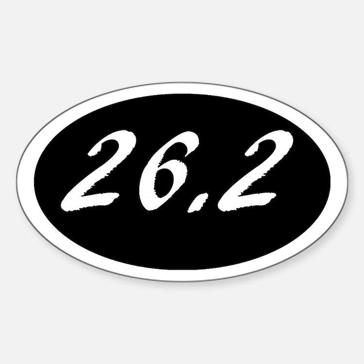 Marathon 26.2 on a black background with w Decal