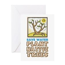 Plant Native Trees Greeting Card