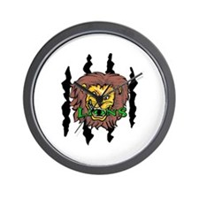 LIONS AND CLAW MARKS Wall Clock