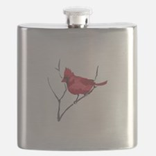 CARDINAL ON BRANCH Flask