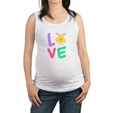 Funny Little bunny Maternity Tank Top