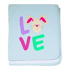 Love Bunny baby blanket