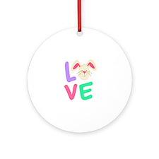 Love Bunny Ornament (Round)