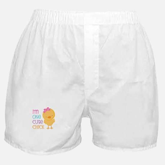I'm One Cute Chick Boxer Shorts
