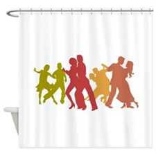 Colorful Tango Dancers Shower Curtain