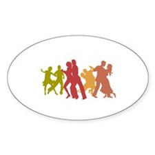 Colorful Tango Dancers Decal