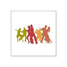 Colorful Tango Dancers Sticker