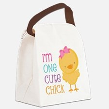 I'm One Cute Chick Canvas Lunch Bag